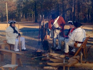 234th Anniverasy battle of cowpens Perid reinactors trying ot stay warm