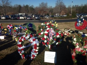Battle of Cowpens wreaths honoring  Patriots of the Battle