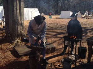 Cowpens Period campground Blacksmith