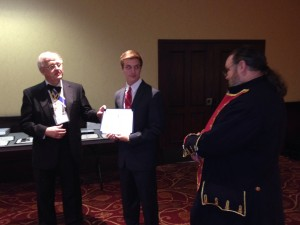 Bobby Walters is the SCSSAR state Runbaugh oration contest winner
