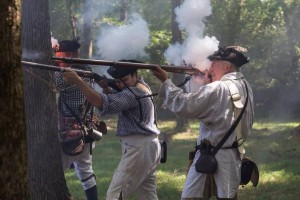 Hucks defeat battle reenactment - Copy