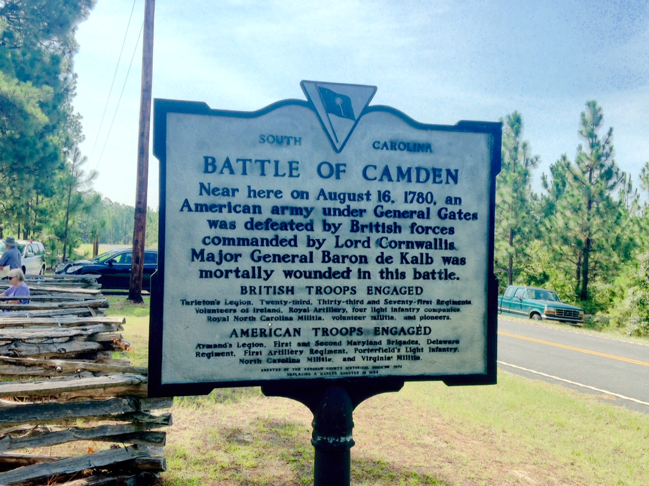 Battle of Camden historical  marker