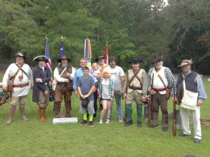 Howerton ancestors with SAR state miltia color guard
