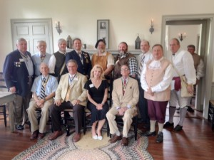 SAR President General Thomas lawrences and First lady Mickey Jo with the South Carolina delegation Battle of Camden Commerative